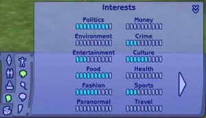 The Sims 2 Interests
