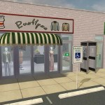 Desert Sands Strip Mall | Sims 2 Community Lot