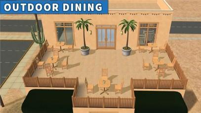 Sims 2 Strangetown Restaurant Bar OUTDOOR DINING