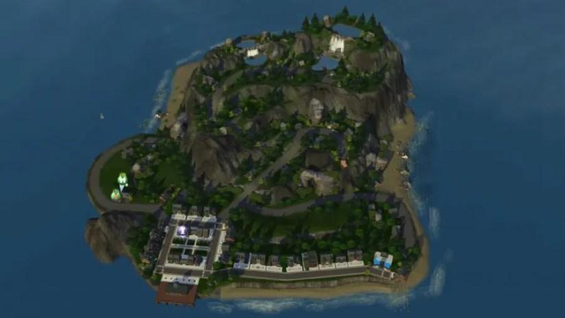 Sims 3 Empty World Redwood Harbor