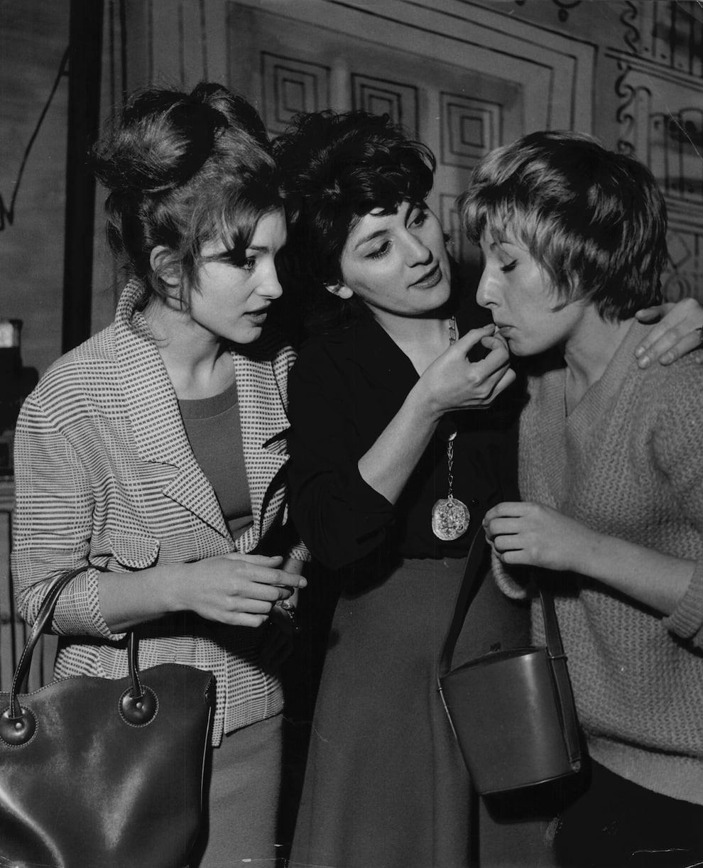 Bad girls smoking.