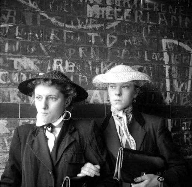 Some of the more feminine looking Teddy Girls.