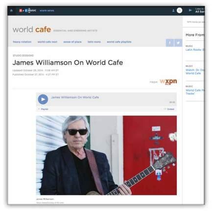 link to james-williamson- on npr World Cafe
