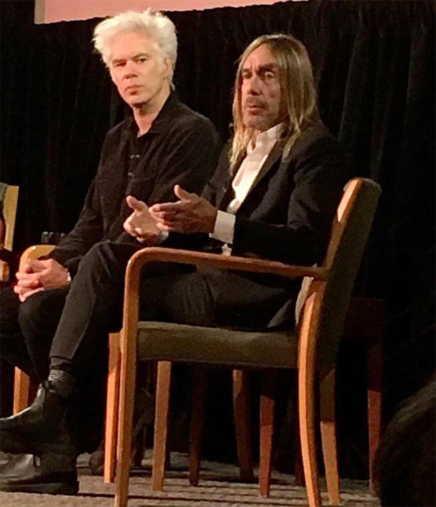 Jim Jarmusch and Iggy Pop in NYC