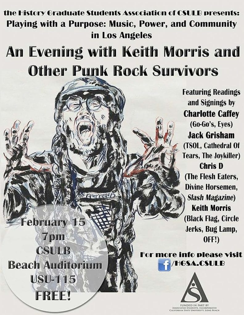 """poster for """"An Evening with Keith Morris"""""""