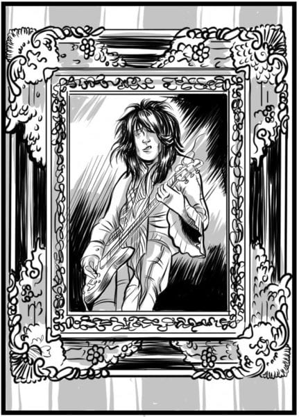 Johnny Thunders portrait by Ally Cat