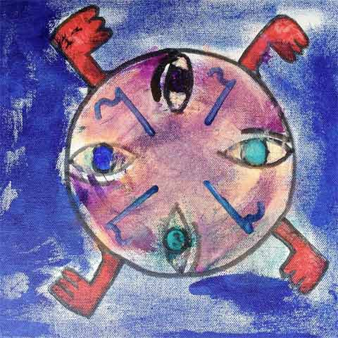 """Ezekiel's Vision"" by Richard Lloyd 12"" x 12"" acrylic on"