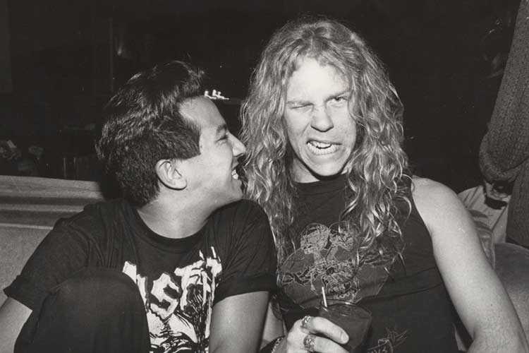 Michael Alago and James Hetfield