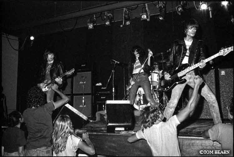 Ramones July 1976 in New Haven, CT- photo© by Tom Hearn