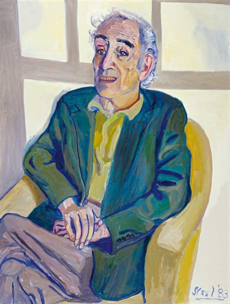 Portrait of Meyer Schapiro - by Alice Neel 1983