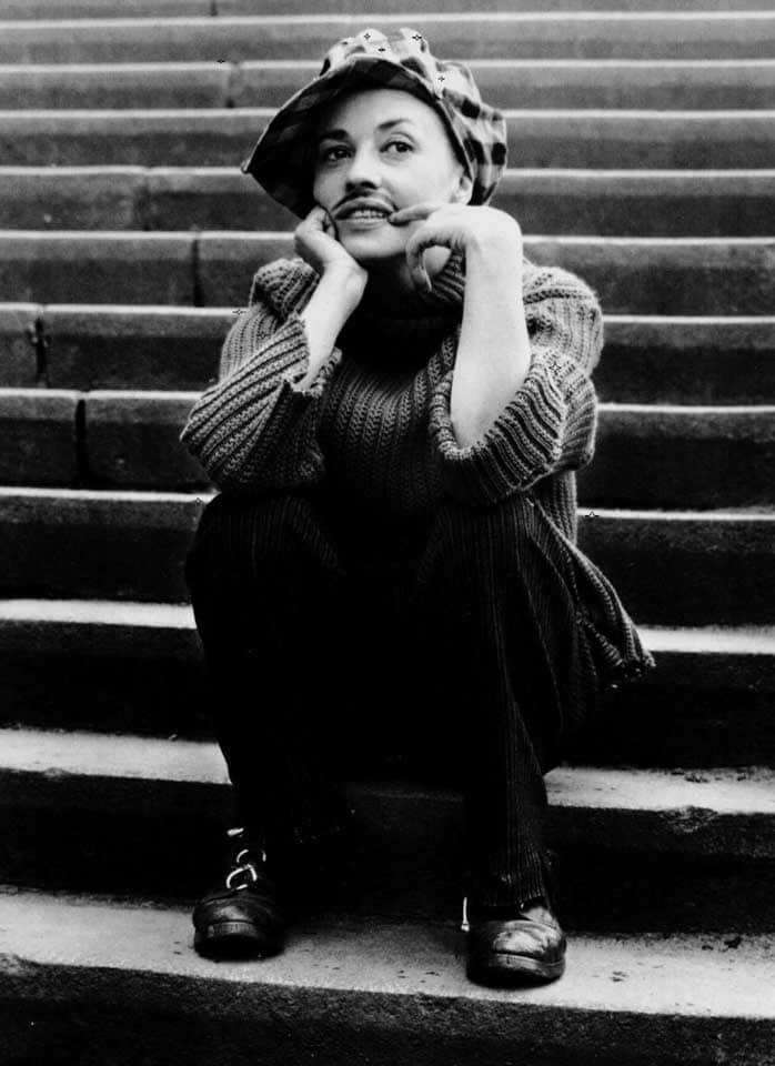 Jeanne Moreau by Raymond Cauchetier on the set of Jules et Jim, 1962