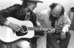 Allen Ginsberg and Bob Dylan by Elsa Dorfman. CC BY-SA 3.0This image contains persons who may have rights that legally restrict certain re-uses of the image without consent.