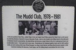 Mudd Club Plaque - Photo credit: CC Wikimedia Commons - user Wickkey