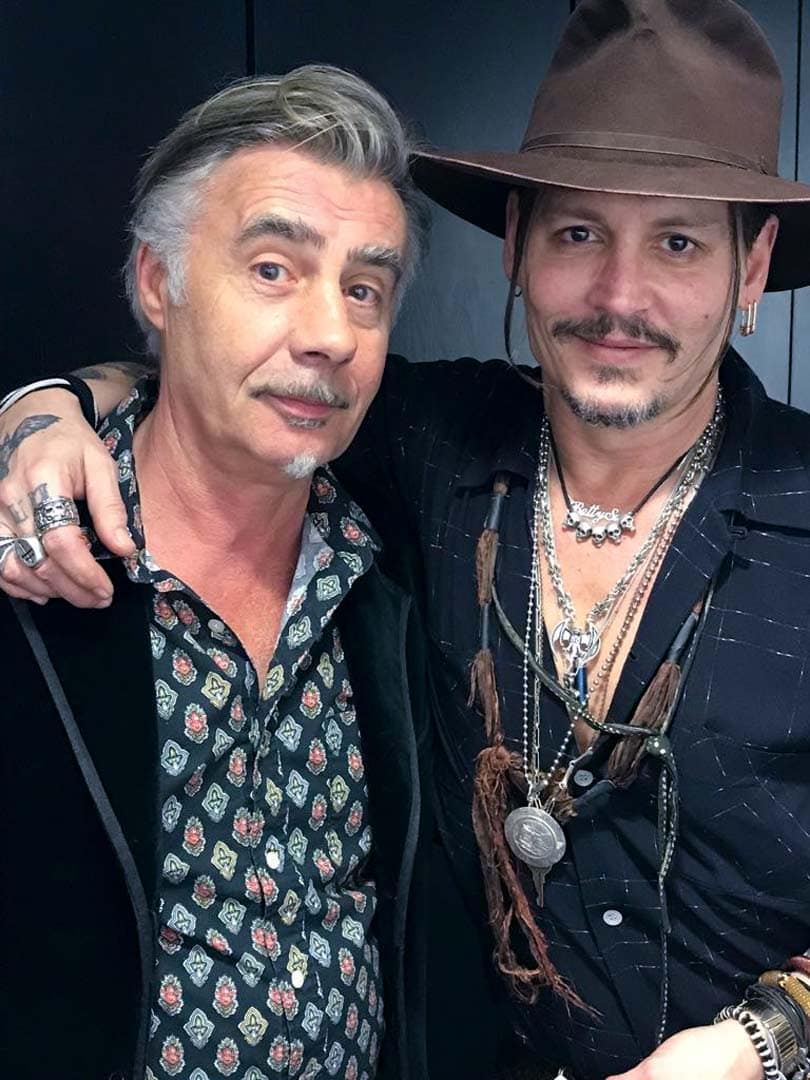 Glen Matlock and Johnny Depp