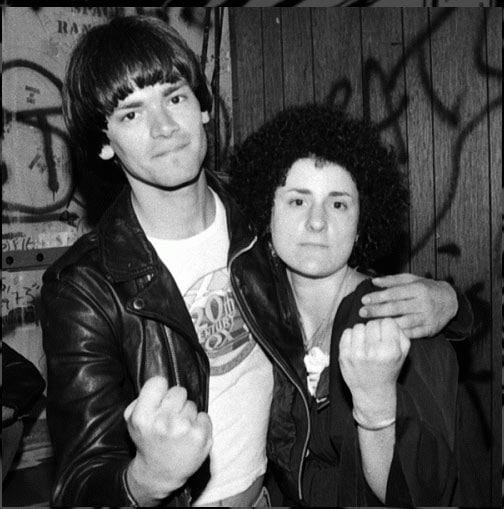 Jenny Lens with Dee Dee Ramone 1977