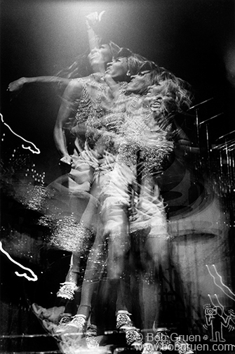 Tina Turner multiple image on stage at the Honka Monka Club, NYC. July 8, 1970 © Bob Gruen / www.bobgruen.com