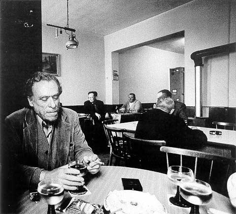 Charles Bukowski in a German Bar in the 70s