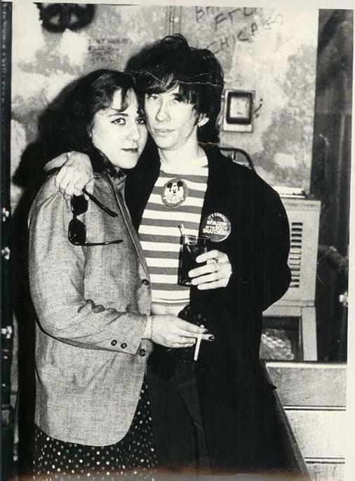 Marina Lutz and Stiv Bators by Eileen Polk