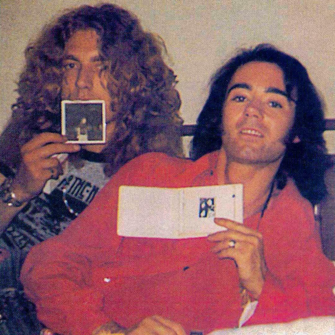 Robert Plant & BP Fallon, Chicago 1973. Photography by Cori Hinton