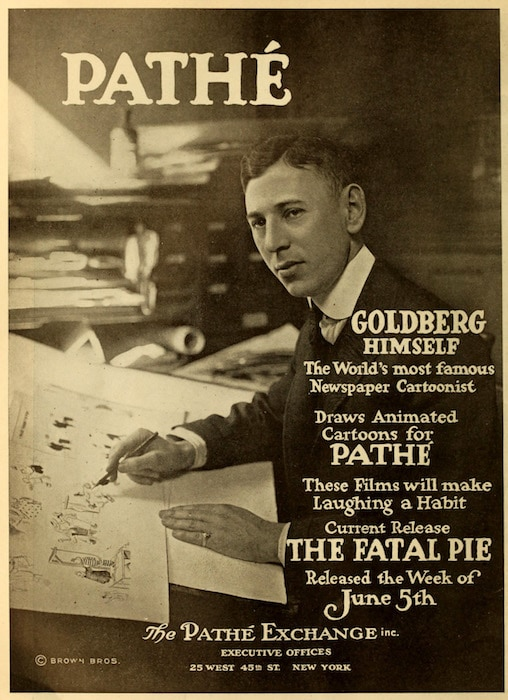 Rube Goldberg in an Advertisement in The Moving Picture World