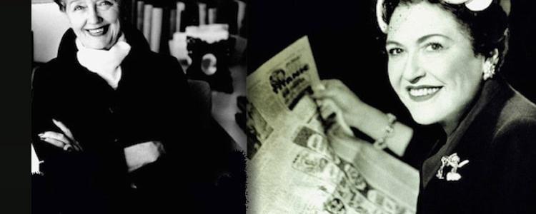 Hedda Hopper and Louella Parsons