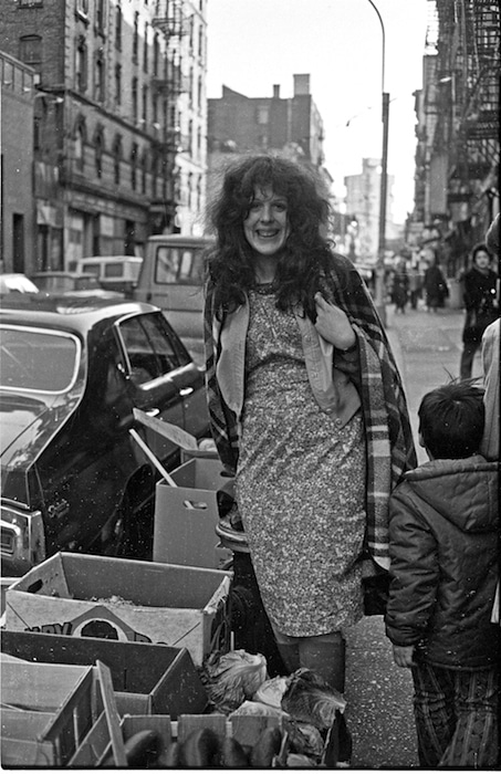 Cynthia Heimel on the Lower East Side in 1973. Photo by Michael Longacre