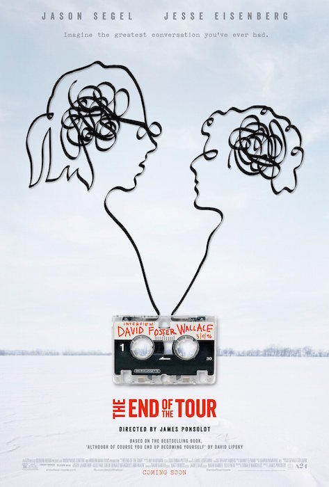 The End Of The Tour movie poster, Directed by James Ponsoldt