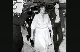 Genene Jones at the Texas courthouse in 1985