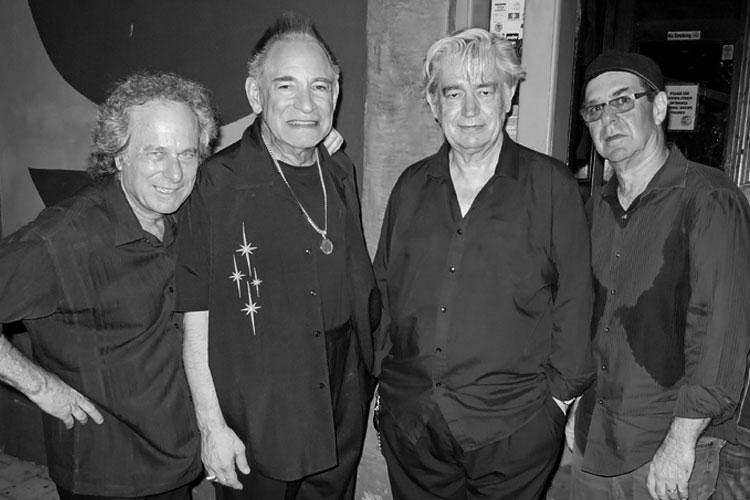 Rob Stoner, Robert Gordon, Chris Spedding, Anton Fig. Tom Hearn photo.
