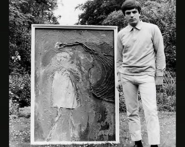 Syd Barrett with one of his paintings, 1964 by John Gordon