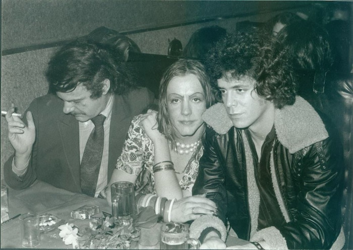 Donald Lyons, Pristine Condition, and Lou Reed in the backroom at Max's Kansas City