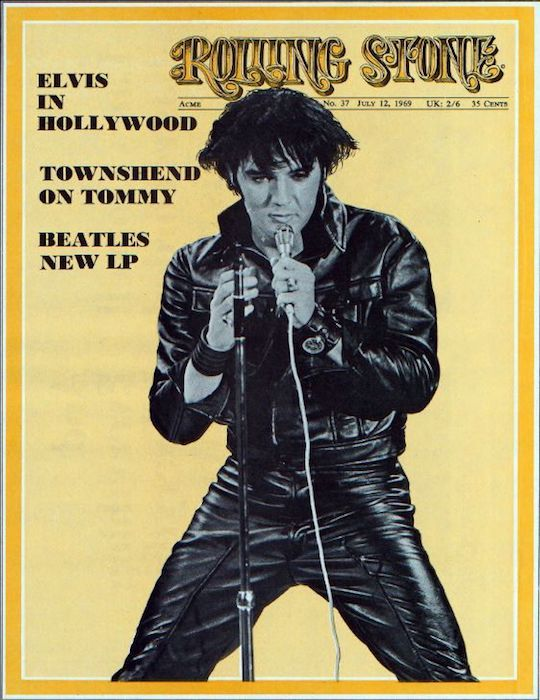 Elvis on the cover of Rolling Stone