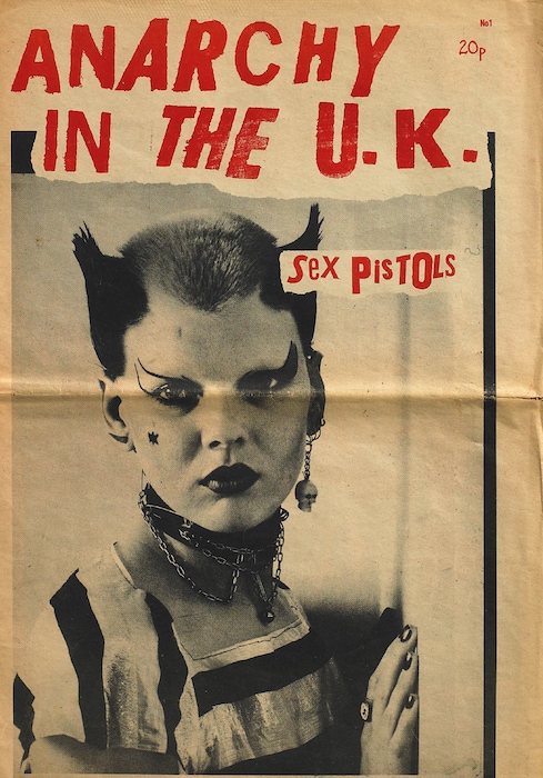 """Soo Catwoman"", Anarchy in the U.K., No. 1, publication. Design: Jamie Reid,Sophie Richmond, Malcolm McLaren and Vivienne Westwood. Courtesy of The Mott Collection."
