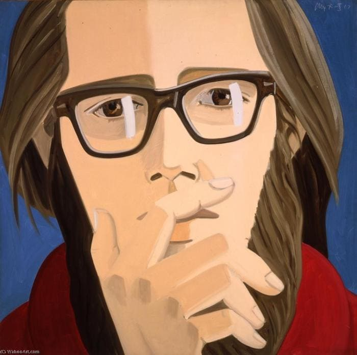 Ted Berrigan by Alex Katz 1967