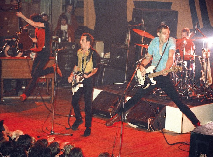 The Clash during the 6 Tons Tour, England 1980
