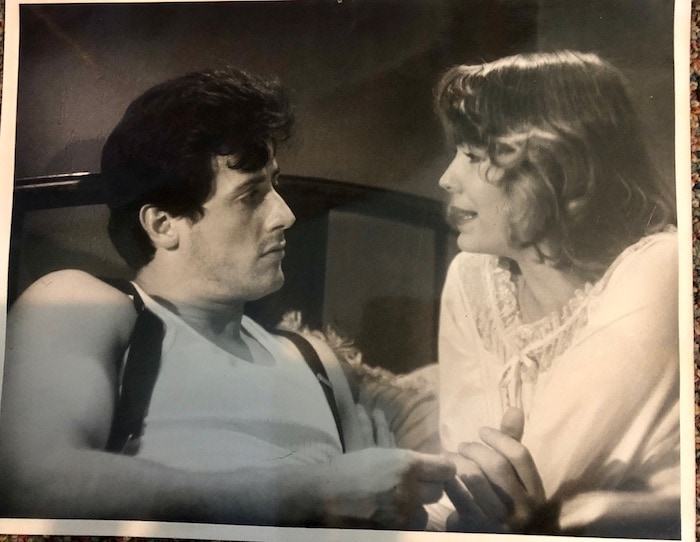 Pamela Des Barres and Sylvester Stallone