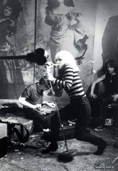 Blondie, CBGB 1977 - Punk Magazine Benefit Show - By Godlis