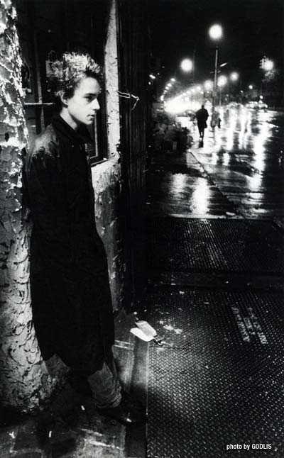 Christopher Parker, Bowery 1976 - By Godlis