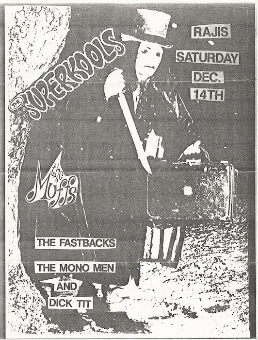 Flyer for a Superkools gig