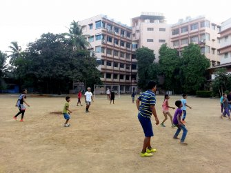 A shot from our football match with the kids