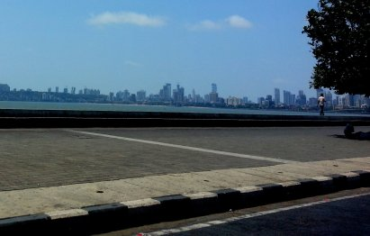 Mumbai Skyline and beach