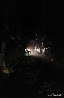 Typically dusty Kathmandu at night