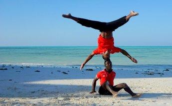 my friend Clalence from Lets Move Zanzibar