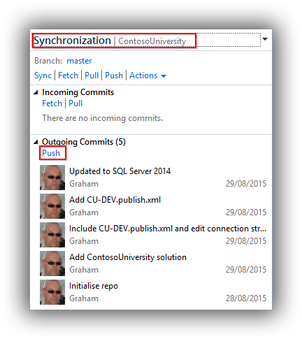 Git with Visual Studio 2015 and TFS 2015 - Please Release Me