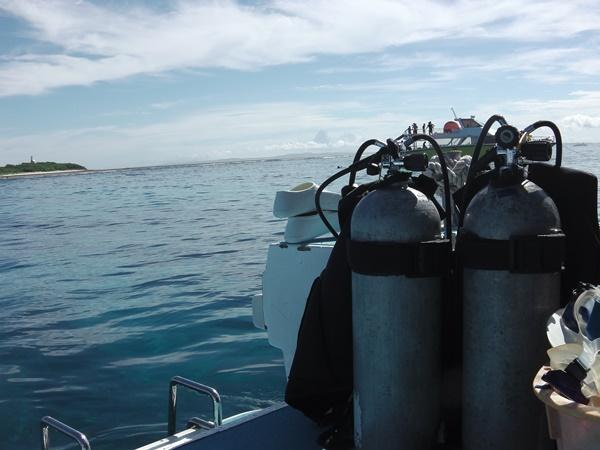 海洋実習が行われる海の上