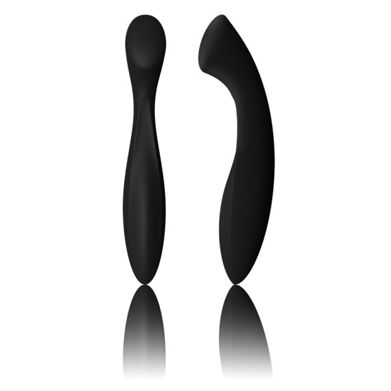 Lelo Ella g-spot dildo side and front view