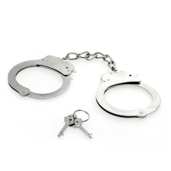 Stainless steel metal handcuffs with keys
