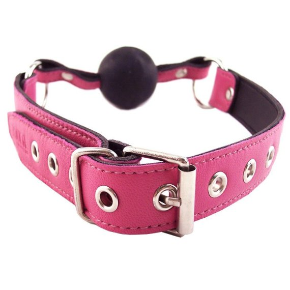 Rouge Garments Pink Ball Gag buckle
