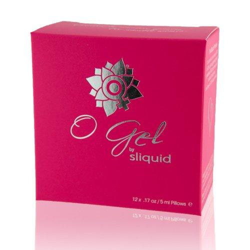 Sliquid O-Gel clitoral stimulation gel carboard box containing 12 sachets of gel
