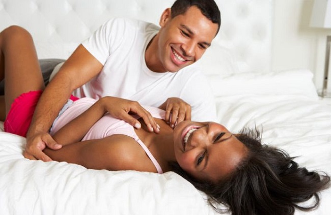 Image result for black happy couple in bed